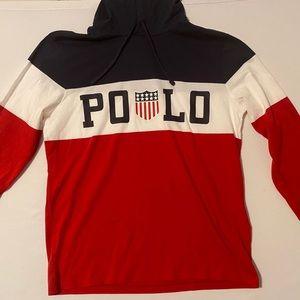 Polo Ralph Lauren Colorblock Hoodie Shirt Hi Tech